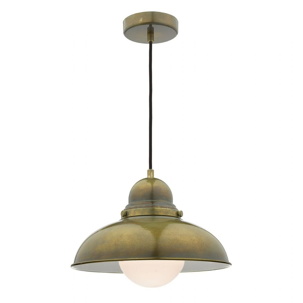 Dynamo 1 Light Pendant Weathered Brass (Class 2 Double Insulated) BXDYN0142-17